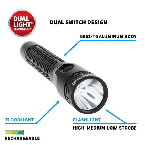METAL DUTY/PERSONAL-SIZE RECHARGEABLE FLASHLIGHT