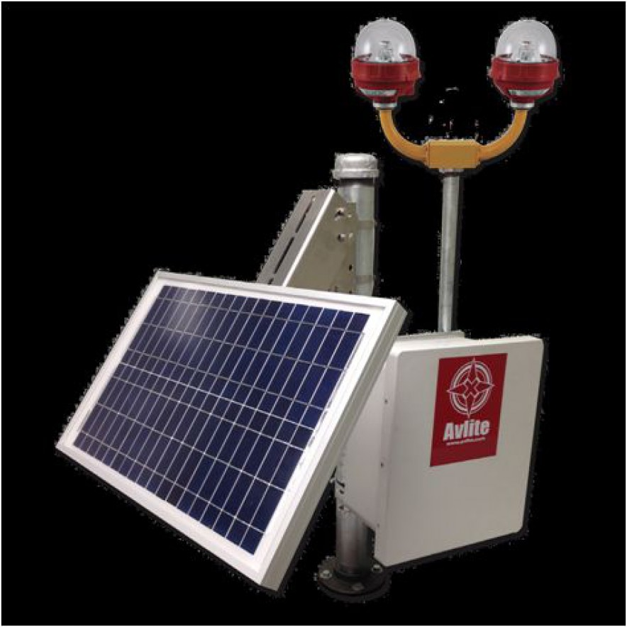 Solar Power System for L-810 Single and Dual Obstruction Light